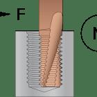 En illustration av gängfräsning.