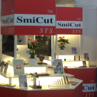Close up picture of SmiCut Exhibition at EMO, Hannover.